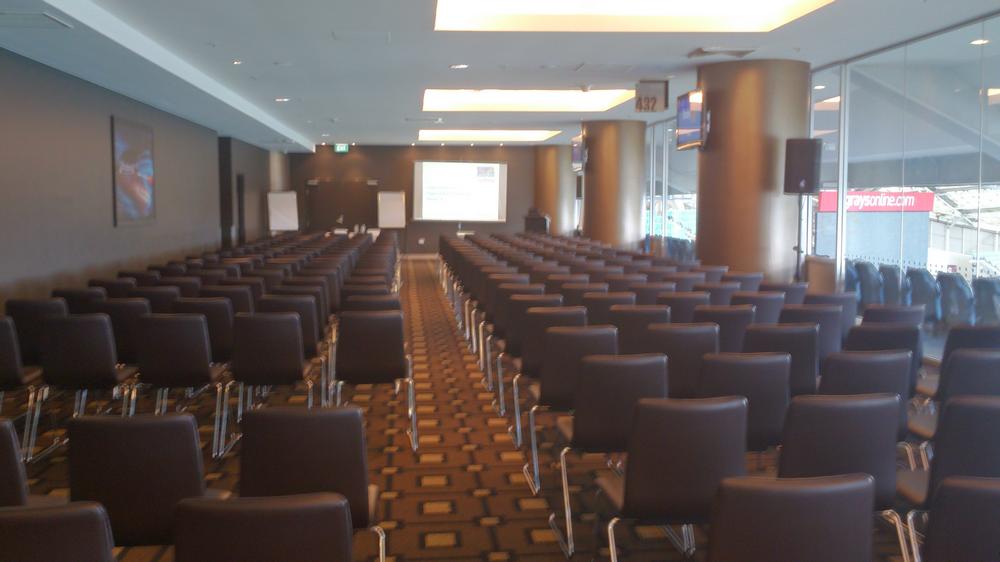 Meeting room for presentation in Sydney Olympic Stadium