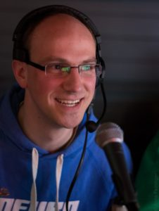 Bei der Rotaract Deutschlandkonferenz moderierte Florian Wackermann als Stimme aus dem Off. Foto von Anna Feininger, 2016